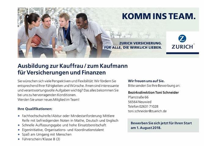 Zurich Versicherung - Ausbildung zur Kauffrau / zum Kaufmann