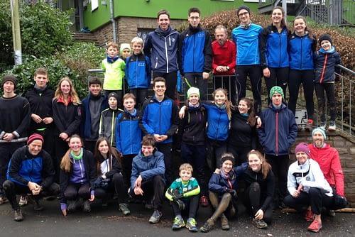 Linzer Leichtathleten beim Cross-Trail-Camp 2019