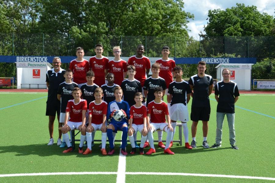 Mannschaftsfoto der C1-Junioren der JSG Linz in der Saison 2020/2021