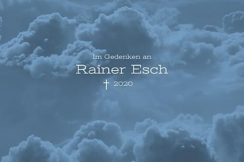 Nachruf: Zum Tod von Rainer Esch